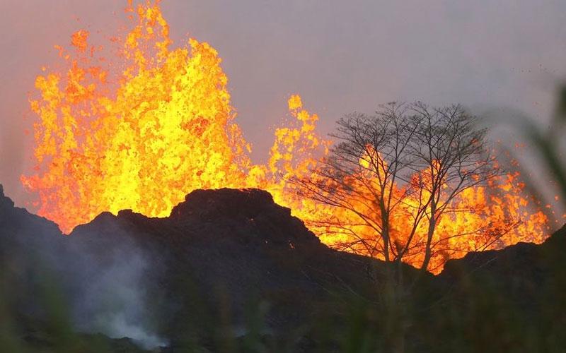 Man falls 21 metres into volcano and amazingly survives