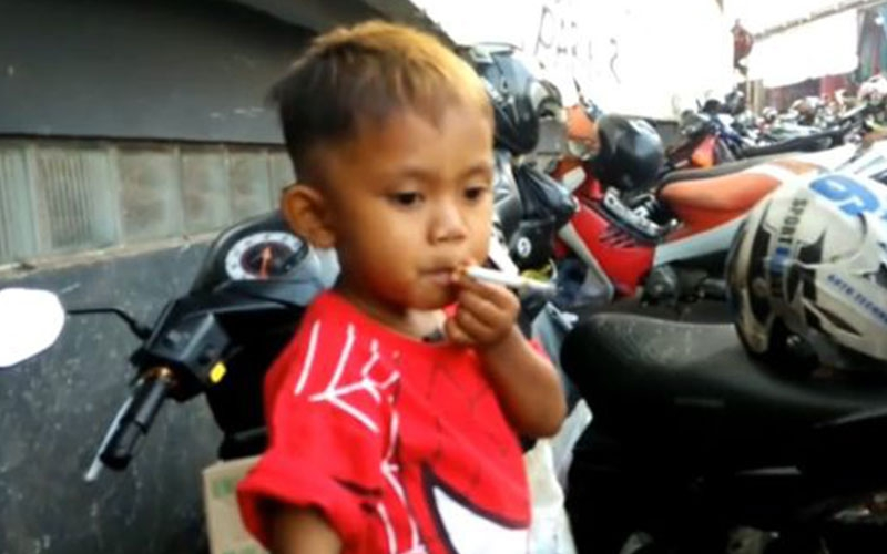 Meet two-year-old who smokes 40 cigarettes daily