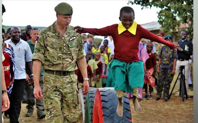 Prince William in Kenya, visits British Army in Laikipia