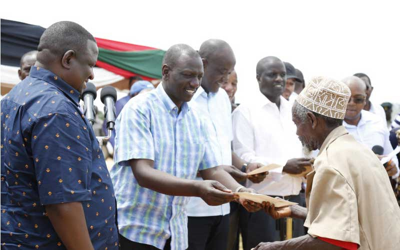 Raila out to destroy Jubilee, DP Ruto claims