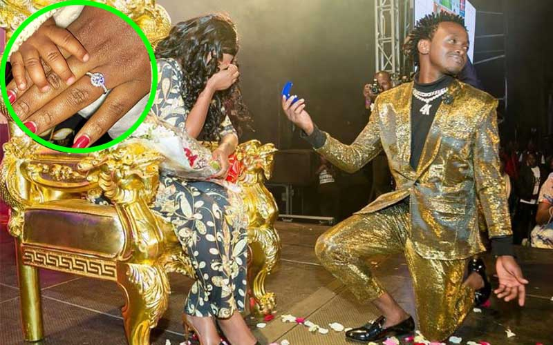 Shamba Mzima! Did Bahati propose to Diana with ring worth over a quarter a million?