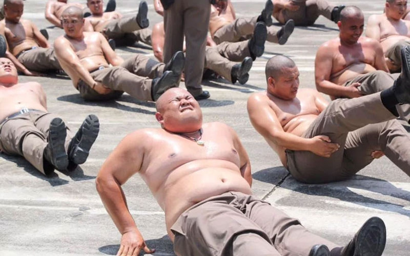 Thailand sends overweight policemen to weight loss camp