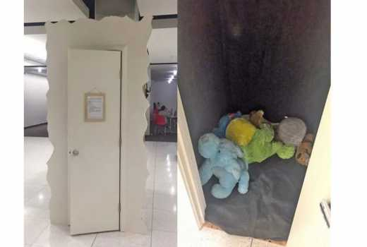 University installs 'Cry Closet' for stressed-out students