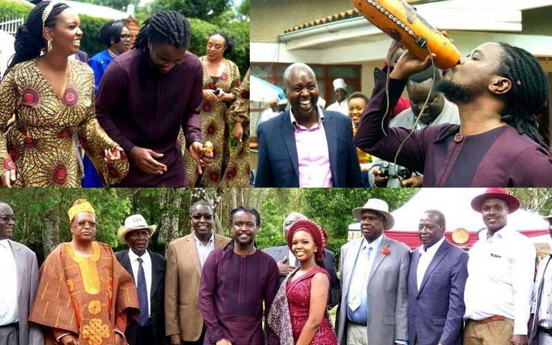 VIDEO: Nyashinski dancing at his traditional wedding