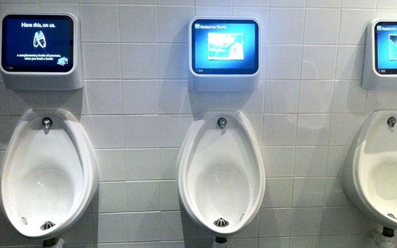 Why Spanish football teams are installing TV urinals in their stadiums