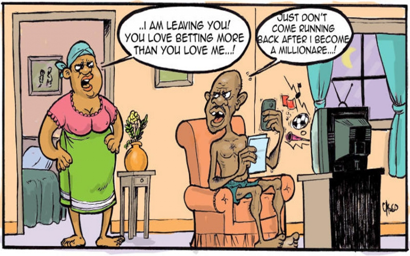 Wife threatens husband with divorce, citing betting addiction