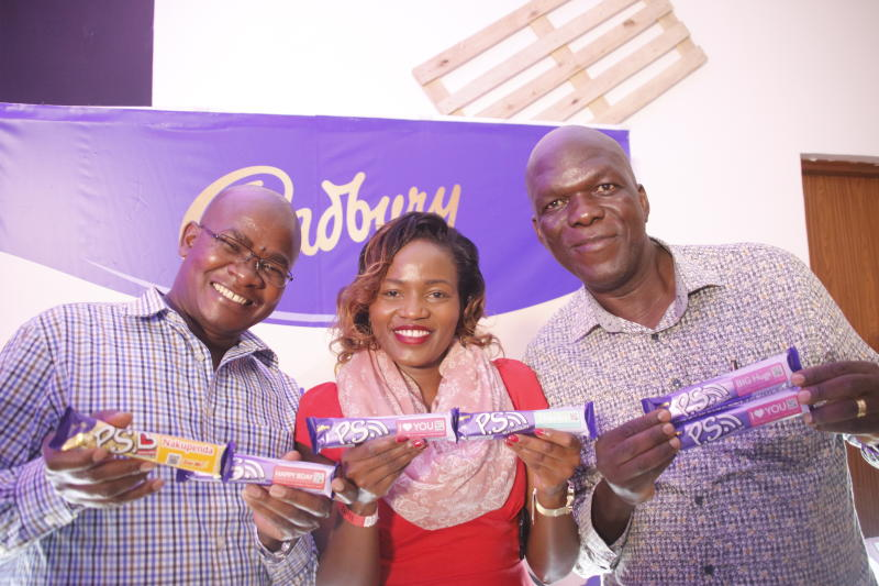 Cadbury chocolate brand ambassadors during the 'SAY IT WITH PS' cadburys chocolate launch at Anga Cinema on 17th February 2020 PHOTO/David Gichuru