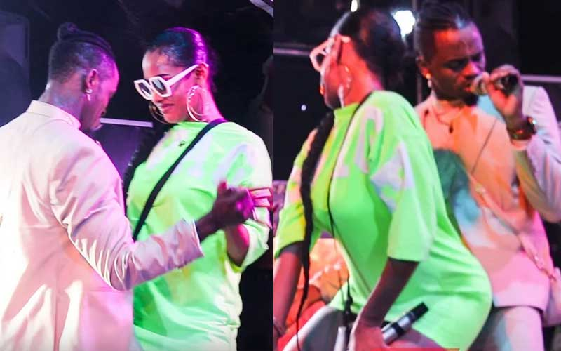 VIDEO: Tanasha, Diamond dance sensually as they perform in Tanzania