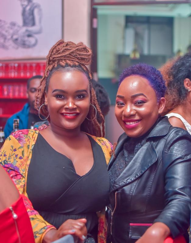 From left, Betty shiro and Wendy Kimathi at the Big year blend concert at Mombasa road on 4th January 2020. Photos by: FELIX KAVII