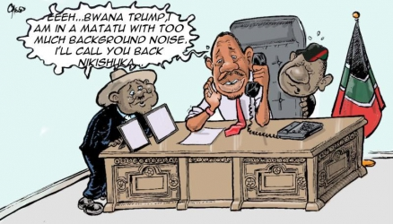 Wackyleaks: Tense times as East African presidents live in fear of a Donald Trump phone call