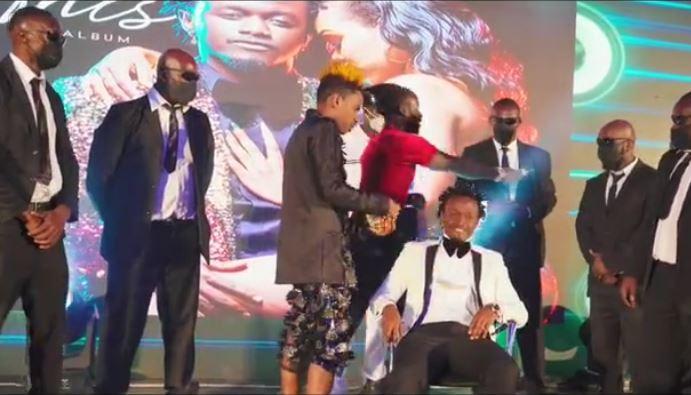 Why Eric Omondi slapped Bahati during launch