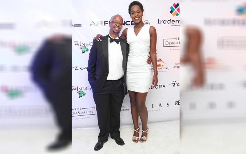 David Muriithi (Left) director of Kenya copyrights