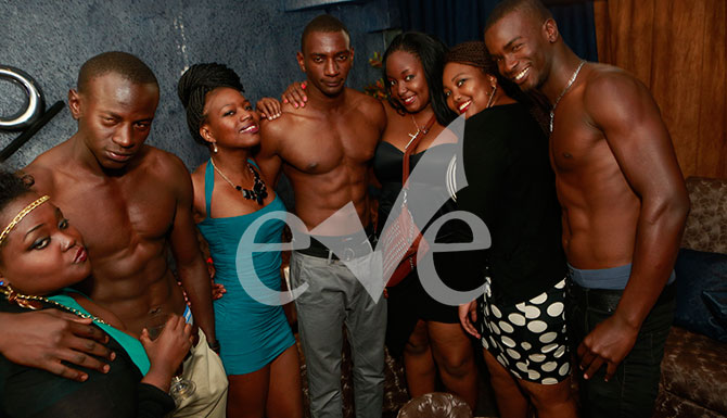 The Sauti Sol-esque men had to be at hand with their Nishike bodies!