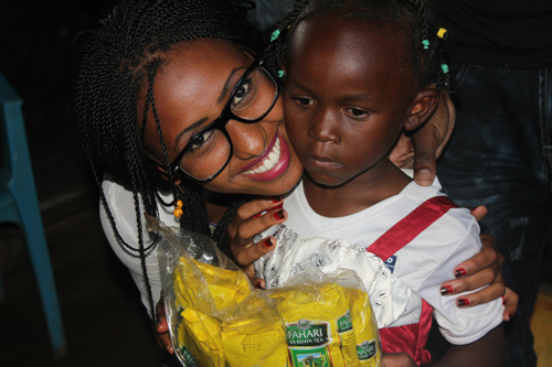 miss kenya shamim with kids