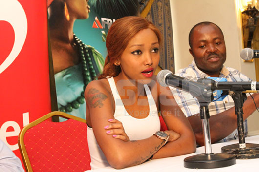 Hudda Addressing the Press in Nairobi after arrival from South Africa