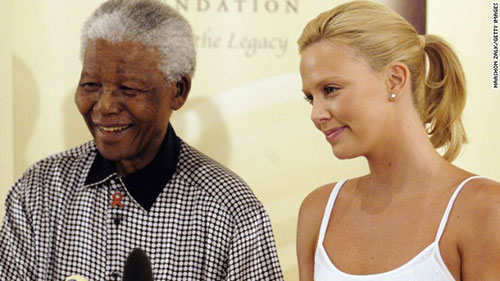 Celebrities who met Nelson Mandela