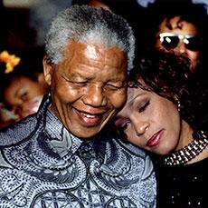Celebrities who met Nelson Mandela
