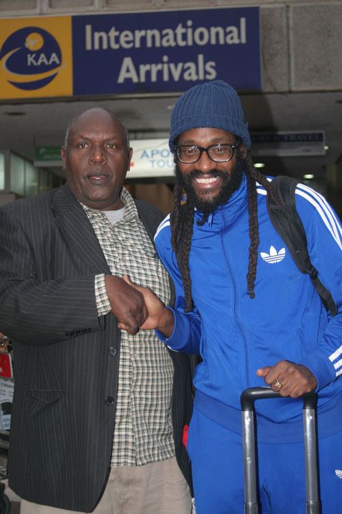 Photo: Courtesy  Tarrus Riley with DS Njoroge at JKIA