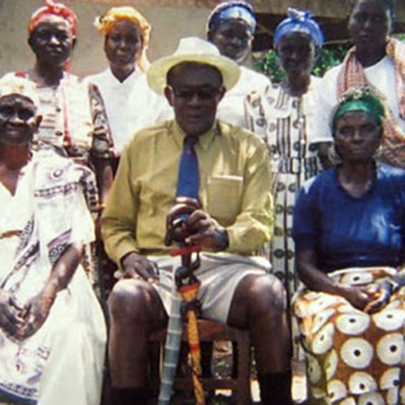 Akuku with some of his wives