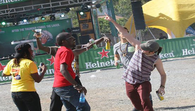 Masaku 7's fans having some fun at the rugby groun