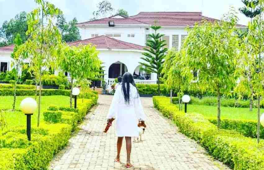 Akothee flaunts palatial house, explains why home-ownership is key