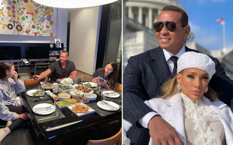 Alex Rodriguez 'sends secret message' to ex Jennifer Lopez as he poses with daughters