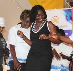 Barack Obama's sister Auma Obama gets jiggy with 'musolo' in Kitui