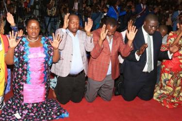 Bishop Margaret Wanjiru and Dennis Waweru fight to be Sonko's running mate