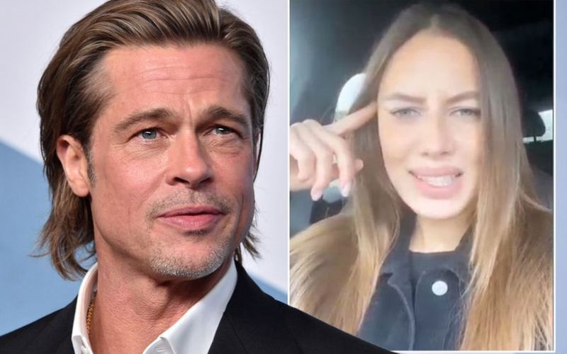 Brad Pitt's girlfriend hits back at trolls mocking romance with the actor