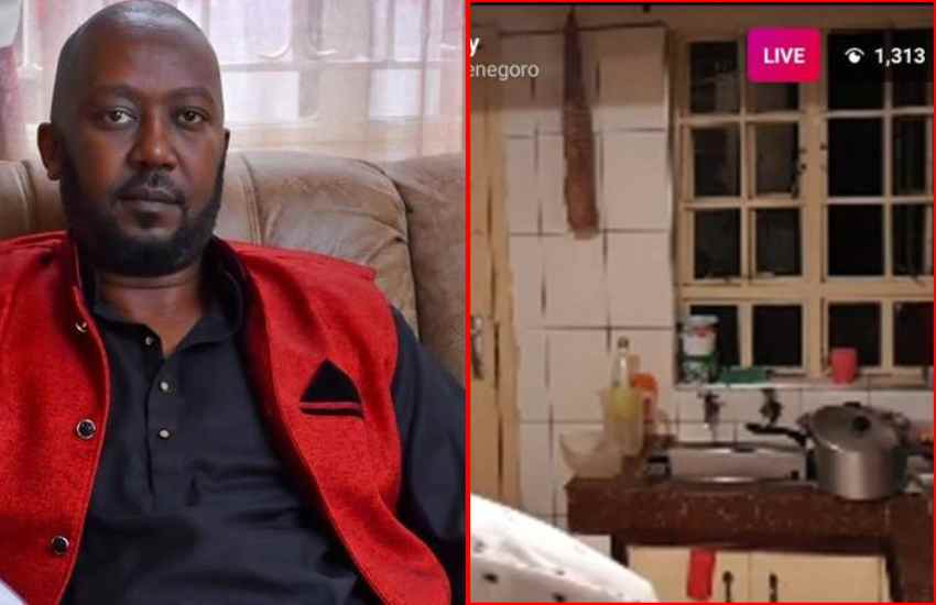 Andrew Kibe responds, fires back at trolls over state of his kitchen