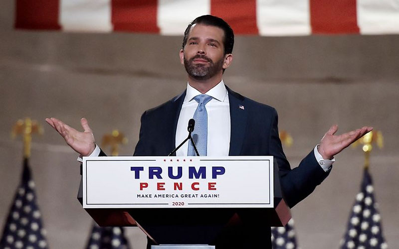 Donald Trump Jr tests positive for coronavirus after downplaying disease