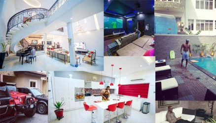 Inside P Square's Peter Okoye mansion in Lagos