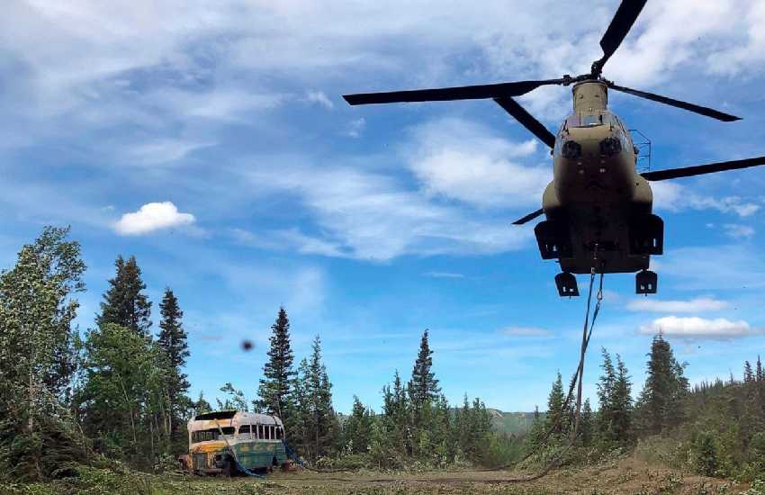 'Into the Wild' bus removed from Alaska trail for safety concerns