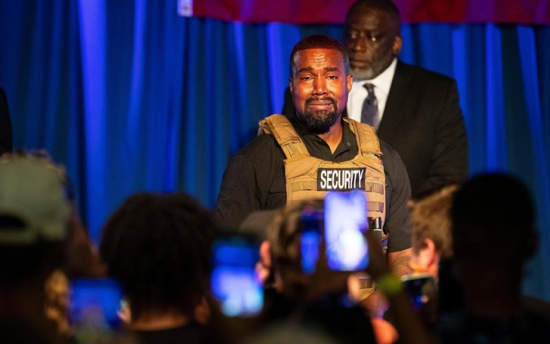 Kanye West has spent insane amounts of money on his failing Presidential election campaign
