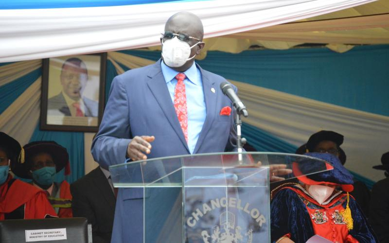 Magoha tells graduands to go and create jobs