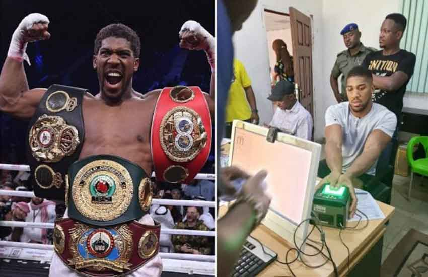 Nigerians react as Anthony Joshua gets ID card in record time