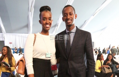 Paul Kagame's children Ange and Ivan steal the show during World Economic Forum