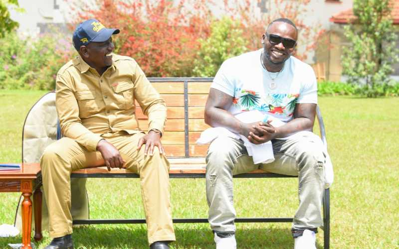 Photos: DP Ruto meets top musicians, creatives