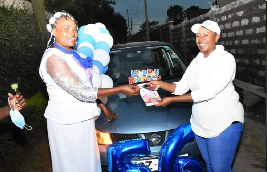 PHOTOS: Hon. Sabina Chege gifts sister car in sweet birthday gesture
