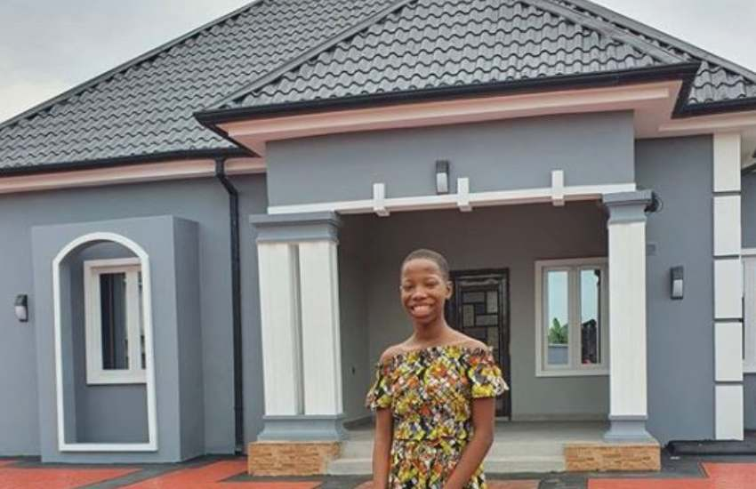 PHOTOS: Emanuella wows fans after building mom stunning house