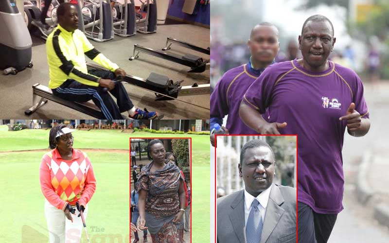 Raila, Ruto, Karua: How Kenya's top politicians keep fit