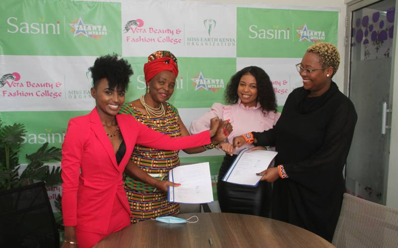 Sasini Talanta Mtaani S6 partners with Miss Earth and Vera Beauty College to restore earthly and face beauty