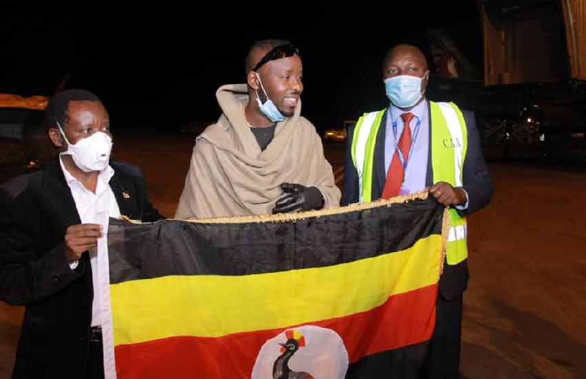 Singer Eddy Kenzo back in Uganda after months in Cote d'Ivoire