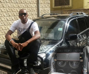 Meet Dj Ryt's Rav 4, with 8 sub woofers in the trunk and blind to 'Mututho'