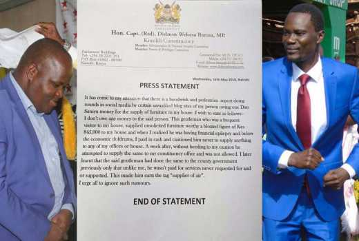 Bungoma MP owes me Sh850, 000 furniture debt- city trader