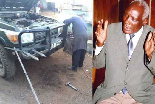 Nobody will arrest me: Eldoret businessman Kibor vows to keep sharp spikes mounted on his car