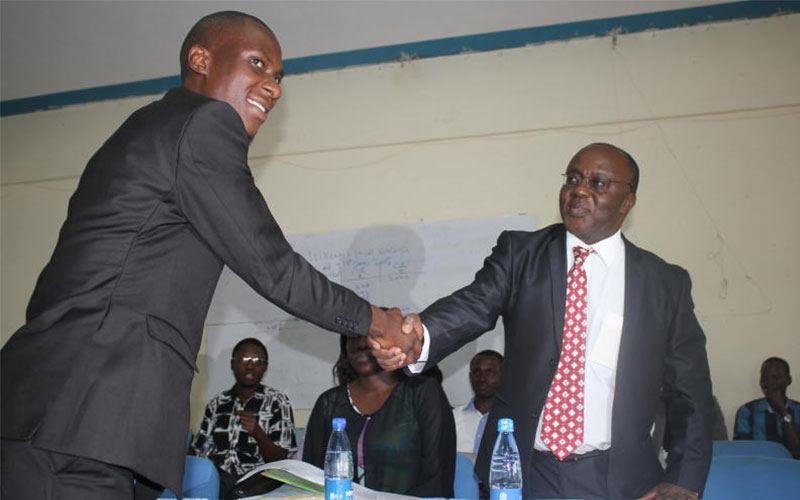 Student leader all smiles after University VC pledges to buy him car
