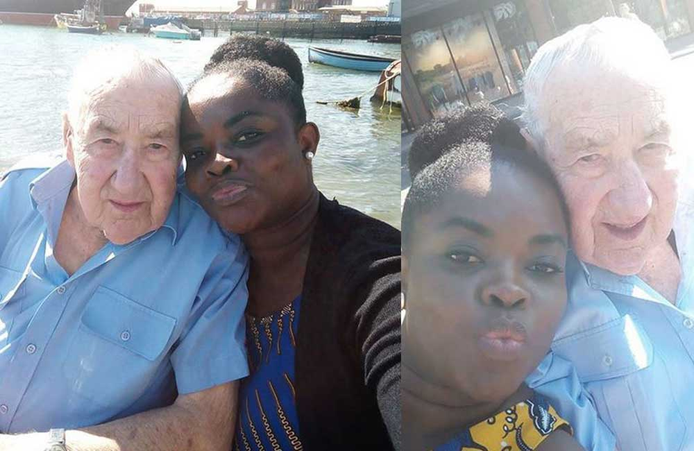 Youthful woman sends internet into frenzy with images of her 'old mzungu' man