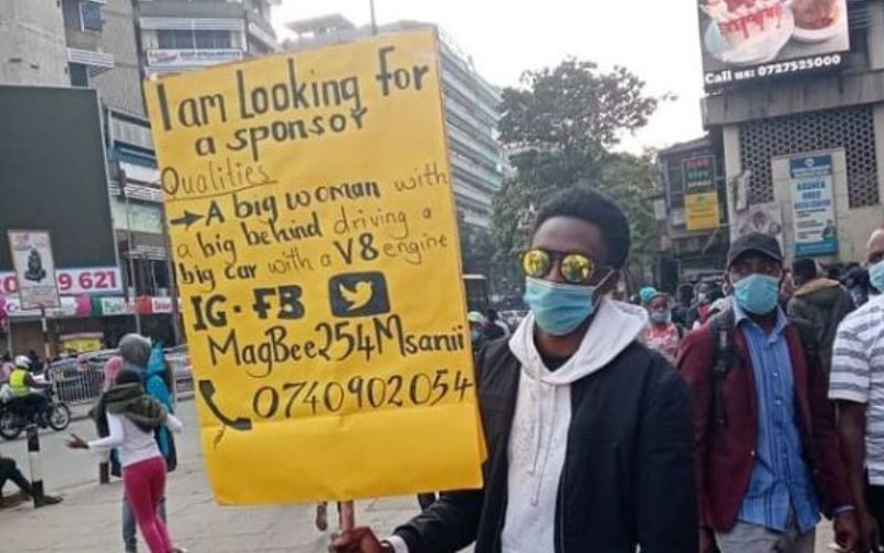 University student looking for female sponsor in CBD expresses his disappointment