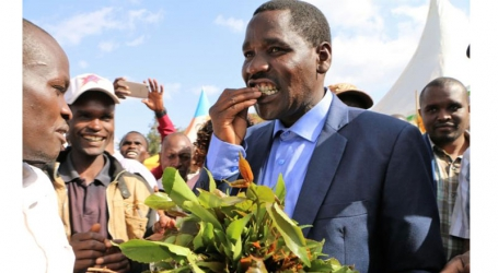 Vote hunting: Meru Governor Peter Munya shares miraa with locals as he seeks to 'blend in'
